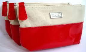 nice makeup bag white red