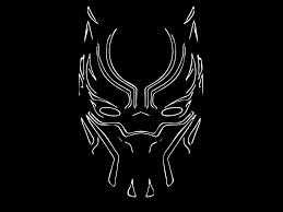 black panther, mask, minimal, art ...