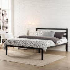 Steel Bedroom Furniture Contemporary Full Sized Bed Frame Platform Bed Style Steel Wood