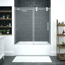 sliding glass doors bronze shower corner