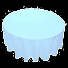 90 inch round polyester tablecloth baby blue