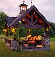full size of outdoor cooking station screened gazebo backyard plans kitchen roof with fireplace patio ideas