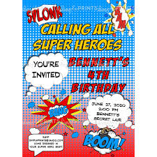 superheroes birthday party invitations superhero comic printable invitation dimple prints shop