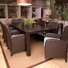 8 seat patio dining set all weather wicker dining set seats 8 dining patio dining tables 8 seat round outdoor dining set
