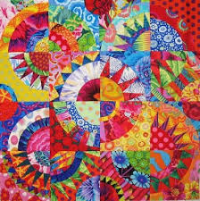 229 best Quilts...New York Beauty Blocks images on Pinterest ... & The blocks are inches finished. The entire center is 18 inches finished. It  used premade New York Beauty Blocks in Electric Quilt Adamdwight.com