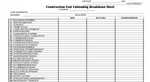 expenses breakdown template apartment building construction cost breakdown survey of operating