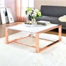 rose gold coffee table acme furniture white high gloss and nz