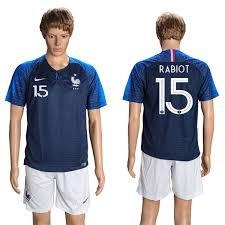 France 2018 Soccer Home Fifa Cup 15 World Jersey Rabiot