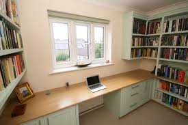 bespoke office desks. Back To Bespoke Hand Painted Home Office / Library With Oak Desk, Bookshelves, Cupboards Desks E