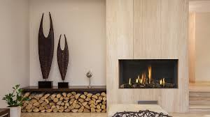 contemporary high efficiency hole in the wall gas fire
