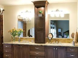 master bathroom cabinet ideas product details walnut vanity with tower cabinets towers bath o27