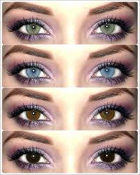 Spy Lens Color Chart Purple Eyeshadow And Different Eye Colours In 2019 Wedding