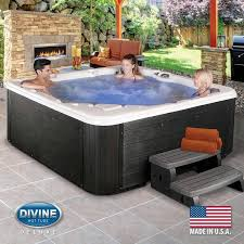 divine hot tubs langely deluxe lounger 76 jet 5 person hot tub delivered and