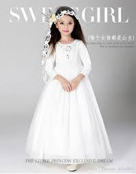 2018 2017 kids wedding dresses pageant party dresses girl