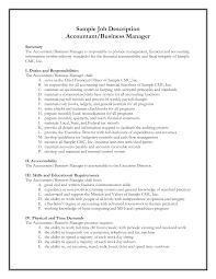 Business Owner Job Description For Resume Resume For Your Job