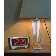 equity by la crosse large 1 2 in led electric alarm table clock