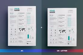 Infographic Resume Cv Volume 7 Indesign Word Template By The