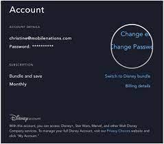 How to change your Disney Plus password