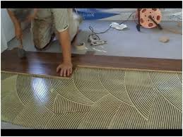 glue for hardwood floors awesome how to install prefinished hardwood floor glue down technique diy