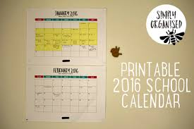 Printable School Year Calendars 2016 Australian Public School Holidays Printable Calendar
