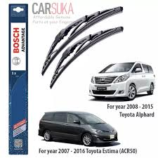 Find and compare the latest used and new toyota estima for sale with pricing & specs. Bosch Advantage Wiper Blade Set For Toyota Estima Acr50 And Toyota Alphard 26 16 100 Genuine Bosch Malaysia Lazada