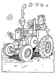 Kleurplaat Trekker Kleurplatennl Omalovánky Tractors