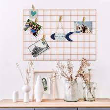 wire wall grid panel for photo hanging display metal grid wall decor organizer mesh panels display