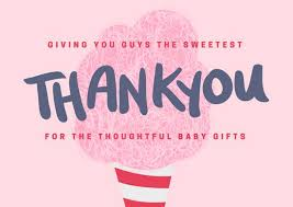 Baby Thankyou Illustrated Baby Shower Thank You Card Templates By Canva