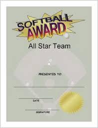 softball award certificate softball award certificate download and print 80 softball