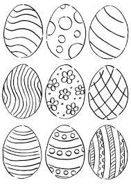 Eggs Coloring Pages Free Easter Egg Crayola Artigianelliinfo