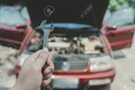 Mechanical Engineer Cars Mechanical Engineer Hands Open The Car Skirt To Check The Oil