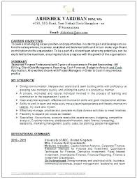Career Change Objective Resume Resume Bank