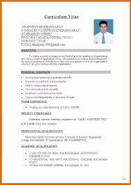 Cv Resume Format Word Genuine Sample Resume Word Format Download