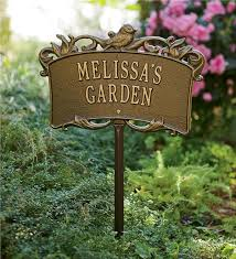 garden sign. main image for personalized aluminum garden sign h