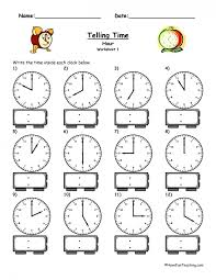 Kids : Telling Time Clock Worksheets To 5 Minutes Telling The Min ...