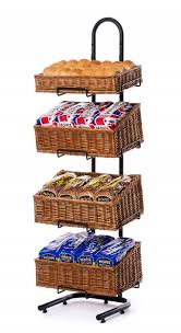 Crisp Display Stand Best Wicker Basket Display Stands DWD Retail Display