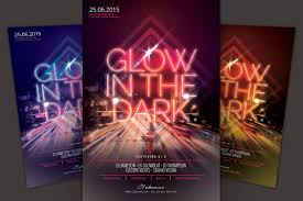 glow flyer glow in the dark flyer by stylewish thehungryjpeg com