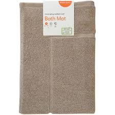 brilliant basics bath mat taupe