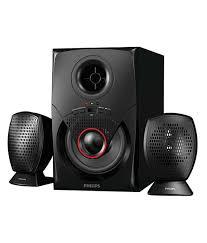 speakers 2 1. philips mms2020f/94 2.1 speaker system black speakers 2 1
