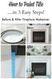 how to paint tile in 3 easy steps no sanding required before and after painting tile fireplace o63 fireplace