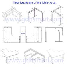 l shaped height adjule desk frame study table steel leg height photo details these image