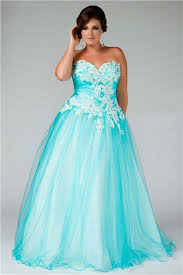 ball gown for plus size princess ball gown sweetheart long aqua blue tulle lace plus size