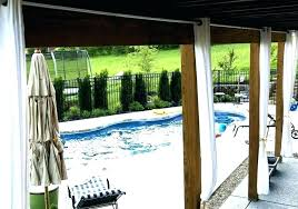 deck curtains patio screen outdoor privacy awesome for wonderful gazeb