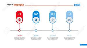 Timeline Slide Template Four Options On Timeline Slide Template Business Data Graph