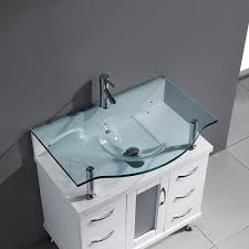 36 inch bathroom vanity with top. Aqua 36 Inch Bathroom Vanity White Finish Clear Glass Top In With Idea 9 E