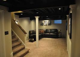 Exellent Basement Ceiling Ideas For Low Ceilings Graceful Painting Inside Design Decorating