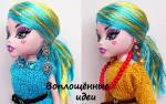 Как сделать волосы для парика для куклы