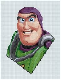 Pdf Cross Stitch Pattern 0085 Buzz Lightyear Toy Story
