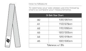 Karate Belt Size Chart Cm 67 Studious Bjj Belt Sizes Chart
