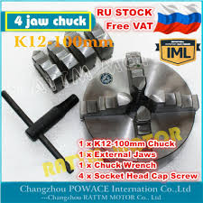 【Россия】K12-<b>100mm 4 Jaw</b> Manual Chuck self-centering <b>CNC</b> ...